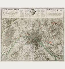 Carte Topographique des Environs & du Plan de Paris ... Karte von der Gegend und Gundris der Stadt Paris ...