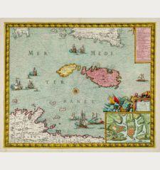 Carte et Plan de l'isle de Malthe et des villes et forts avec les nouvelles fortifications ainsy quelle sont apresent
