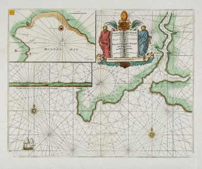 Antique Maps, Collins, England, Cornwall, Mount s Bay, Fowey, 1693-1792: Fowey & Mounts-Bay ...