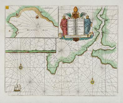Antique Maps, Collins, England, Cornwall, Mount s Bay, Fowey, 1693-1792: Fowey & Mounts-Bay ...