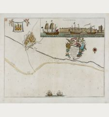 Prospect of Leith from the east - To the Right Honourable Sr. James Fleming, Lord Provost of ye City of Edenburgh