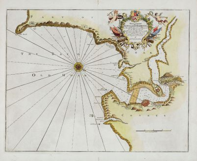 Antike Landkarten, Collins, Irland, County Cork, Kingsale Harbour, 1693-1792: This Chart of Kingsale Harbour...