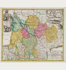 Tabula Aquitaniae complectens Gubernationem Guiennae et Vasconiae