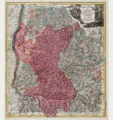 Accurata Delineatio Brisgoviae cum Civitatibus Silvestribus Austriae Anterioris, tanquam Limitum et Terminorum Imperii Rom....
