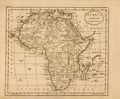 Antike Landkarten, Russell, Afrika Kontinent, 1795: Africa from the best authorities