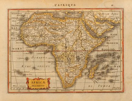 Antique Maps, Goos, Africa, 1630: Africae descriptio