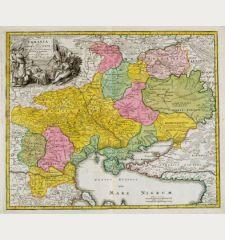 Ukrania quae et Terra Cosaccorum cum vicinis Walachiae, Moldaviae, Minorisq., Tartariae Provinciis exhibita