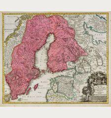 Regni Sueciae in Omnes suas Subjacentes Provincias Accurate Divisi Tabula Generalis ...