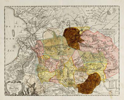 Antike Landkarten, Visscher, Niederlande, 1684: Transisalania Provincia vulgo Over-Yssel. Auctor. N. ten-Have.