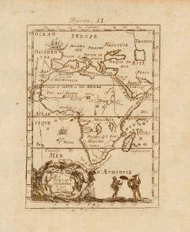 Antique Maps, Mallet, Africa, 1686: Afrique Moderne, Newes Africa