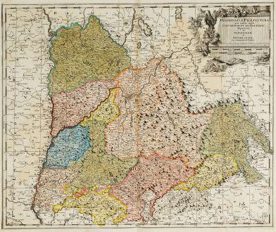 Antique Maps, Valk, France, Rhone-Alpes, Dauphine, 1700: Delphinatus Praefectura quae Gallis audit Gouvernement de Dauphine ...