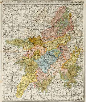 Antique Maps, Valk, France, Champagne-Ardenne, 1720: Campaniae Praefectura divisum in Electiones Rhemorum, Retelii, Catalauni, Augustibonae, Longonae, Chamontii, Meldarum,...