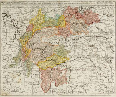 Antike Landkarten, Valk, Frankreich, Ile-de-France, 1720: Gubernatio Insulae Franciae, Divisa in Electiones ...