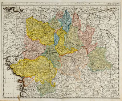 Antique Maps, Valk, France, 1720: Aurelianensis Praefectura Generalis ...