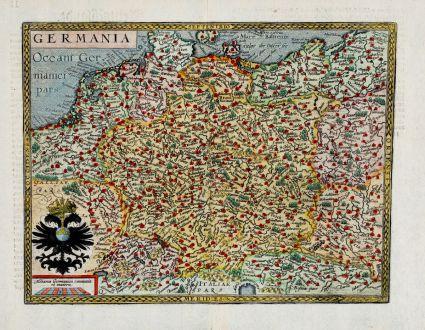 Antike Landkarten, Quad, Deutschland, 1600: Germania