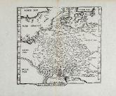 Antike Holzschnitt-Landkarte von Deutschland. Gedruckt bei Gaspar Trechsel im Jahre 1541 in Lyon.