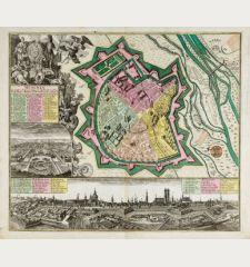 München, die weitberühmt, praechtig und wohl fortificirte Chur-Fürstl. Haupt u. Residenz Stadt des Herzogthums Bayern.