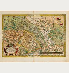 Saxoniae, Misniae, Thuringiae, Nova Exactissimaq. Descriptio