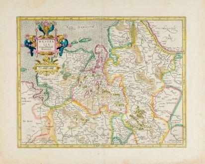 Antike Landkarten, Mercator, Deutschland, Niedersachsen, 1628: Westphalia cum Dioecesi Bremensi