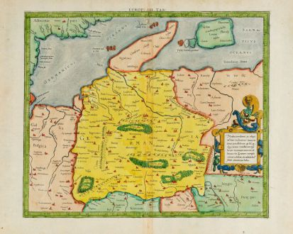 Antike Landkarten, Mercator, Deutschland, 1584: Europ: IIII Tab: