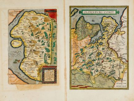 Antique Maps, Ortelius, Germany, Lower Saxony, Schleswig-Holstein, 1603: Oldenburg Comit. / Thietmarsiae, Holsaticae Regionis Partis Typus