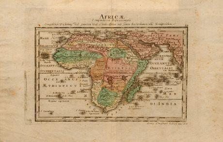Antique Maps, Kilian, Africa, 1760: Africae compendiosa representatio, Compendiose Vorstellung deß gantzen Welt Theils Africa mit seinen Kayserthumen und...