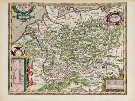 Antike Landkarten, Ortelius, Deutschland, 1603: Germaniae Veteris, Typus.