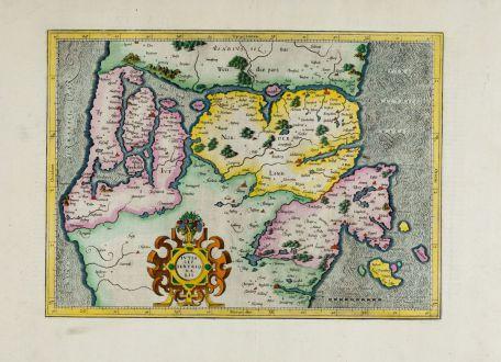 Antike Landkarten, Mercator, Dänemark, Jütland (Jylland), 1607-08: Iutia Septentrionalis