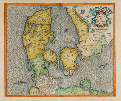 Antike Landkarten, Mercator, Dänemark, 1613-19: Daniae Regnu