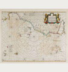 Pascaart, Waer in men claarlyck zien can, alle havens rivieren droogten, gelegen tusschen C.S. Vincent en C. Verde ...