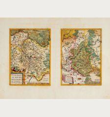 Turingia Noviss. Descript. per Iohannem Mellinger Halens / Misniae et Lusatiae Tabula Descripta a M. Bartholemeo Sculteto...