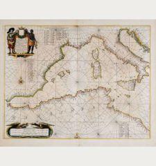 Pascaarte Van't Westlyckste deel vande Middelandsche Zee [&] Pascaarte Van't Oostelyckste deel vande Middelandsche Zee