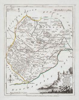 Antike Landkarten, Ellis, Britische Inseln, England, Rutland, 1764-68: Rutlandshire, Divided into its Hundreds...