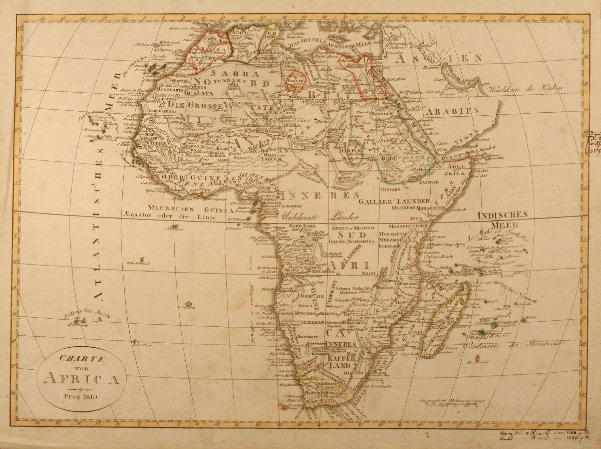 Charte von Africa Geographisches Institut Weimar 1810
