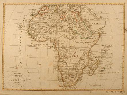 Antique Maps, Geographisches Institut Weimar, Africa, 1810: Charte von Africa
