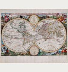 Orbis Terrarum Tabula Recens Emendata et in Lucem Edita per N. Visscher