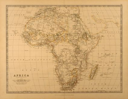 Antique Maps, Johnston, Africa, 1878: Africa