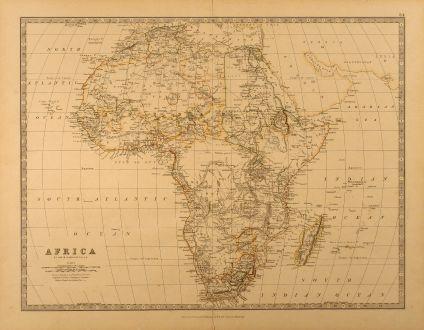 Antike Landkarten, Johnston, Afrika Kontinent, 1878: Africa