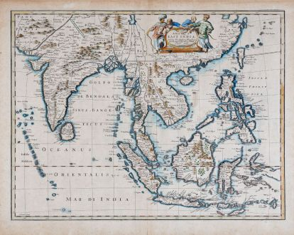 Antike Landkarten, Speed, Südost Asien, 1676: A new map of East India