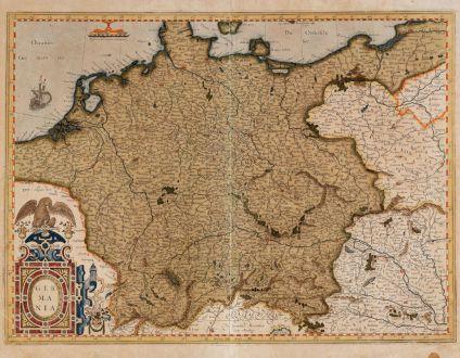Antike Landkarten, Mercator, Deutschland, 1585 oder 1595: Germania