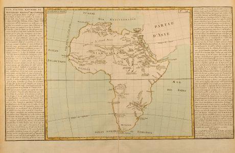 Antique Maps, Clouet, Africa, 1787: Lacs Fleuve Rivieres et Principales Montagnes de l'Afrique