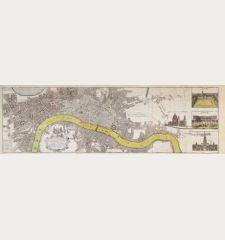 Urbium Londini et West-Monasterii nec non Surburbii Southwark... Neuester Grundris der Staedte London und West-Münster,...