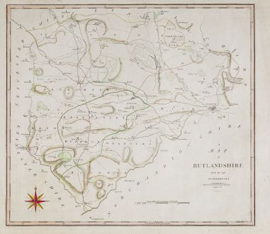 Antique Maps, Cary, British Isles, England, Rutland, 1805: A Map of Rutlandshire from the best Authorities