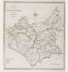 A Map of Leicestershire from the best Authorities