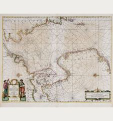 Pascaart vande Noort-Zee. Tabula Hydrographica Oceani Borealis.