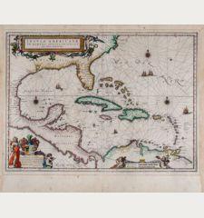 Insulae Americanae in Oceano Septentrionali, cum Terris adiacentibus