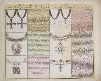 Graphics, Weigel, Coat of arms, 1718: Andere historische Ritter-Orden Charte...