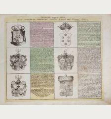 Historische Wappen-Charte Derer vornehmsten Italienischen respective Koenigl. und Herzogl. Haeüser.