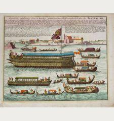 Eigentliche abbildung, derer in Venedig gebräuchlichen Schiffe, vornehmlich aber des Bucentauro