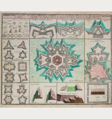 Andere Tafel in welcher alle gehörige Vestungs Gebäue von underschiedlichen Manieren derer Berühmtesten Inginieurs zu...